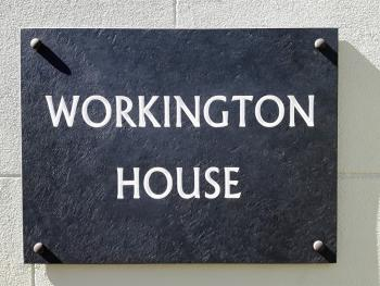Workington House Bed and Breakfast - Main sign for the B&B