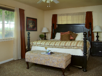 Meritage's peaceful private bedroom