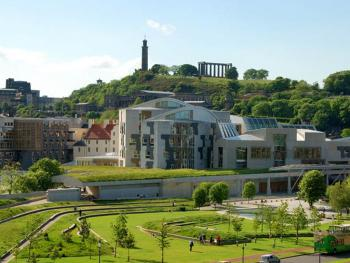 Scottish Parliament and Holyrood Park