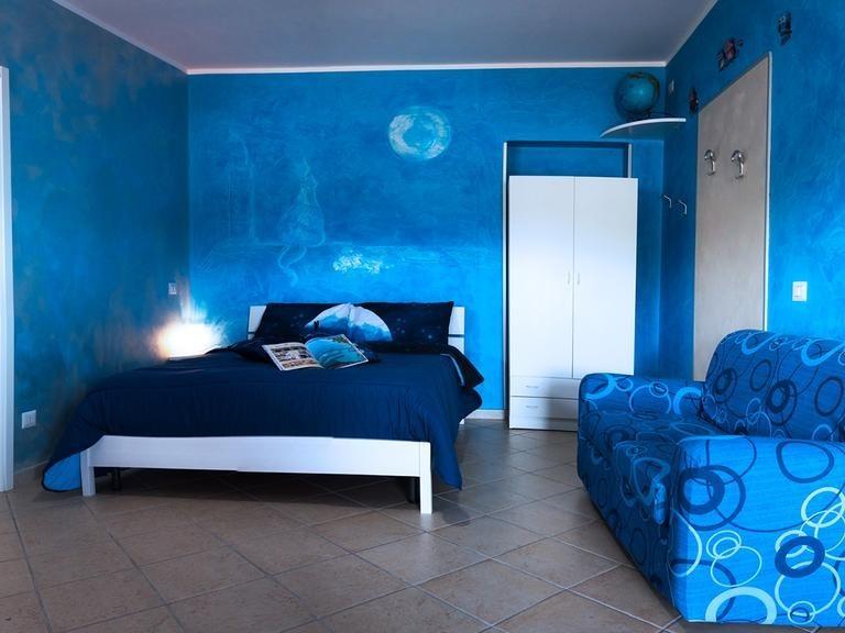 Appartamento-Standard-Bagno in camera con doccia-Vista montagna-Azzurro