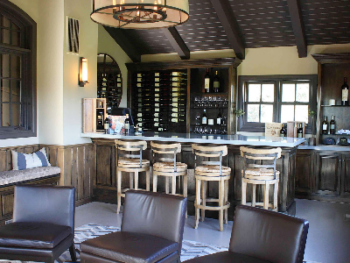 Guests may have their private tasting upstairs overlooking vineyard and valley.