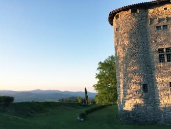 Vue sur les monts d'Ardèche