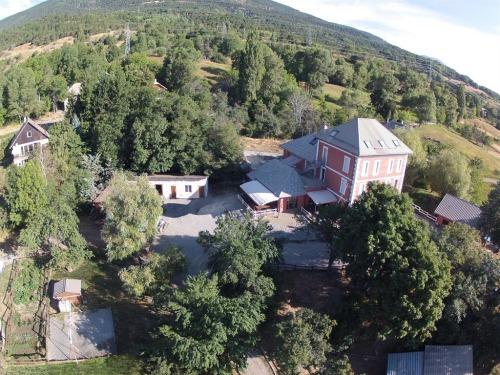 La maison vue de parapente