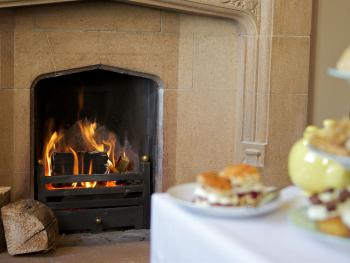 Afternoon Tea by the roaring fire