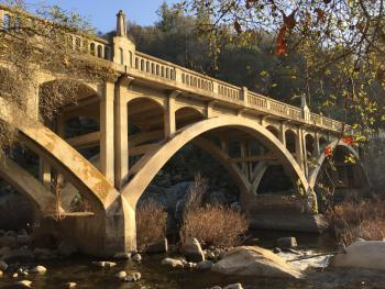 Stunning views of the historic Pumpkin Hollow Bridge adjacent to the property!
