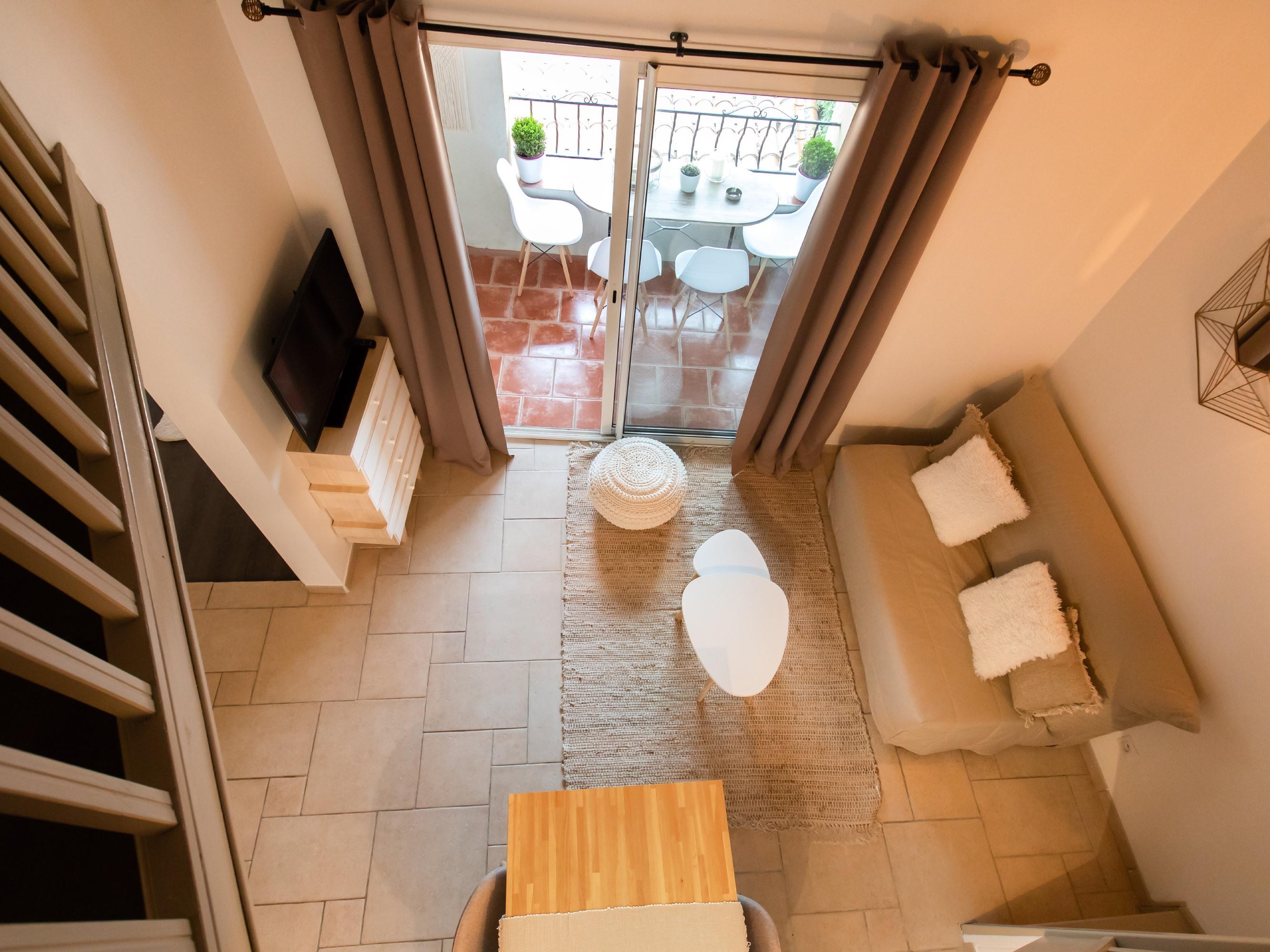 Appartement-Supérieure-Salle de bain Privée-Terrasse-Vue sur la ville 61.5 - Tarif de base