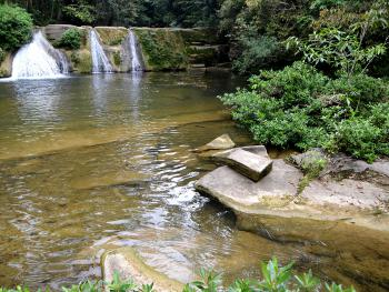 Swim in the natural pool below the San Antonio waterfall