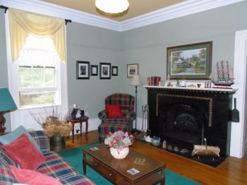 Our comfortable and cozy Library at the Morton House Inn