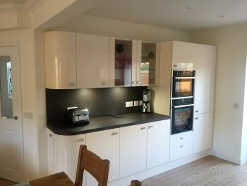 Kitchen area with all latest facilities. Built in units, Fridge/Freezer, Microwave, ovens