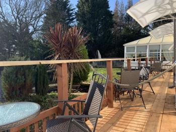 New Decking outside Rooms 1, 2 & 3
