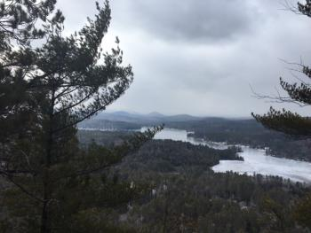 Great hikes very close by- this is the view from Kipp Mountain overlooking Loon Lake- just a 5 minute drive from the Lodge