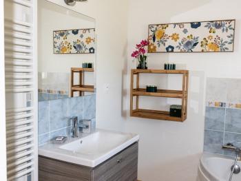 meuble vasque salle de bain étage