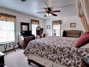 Patton Room features a king bed and private bath