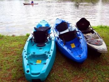 Kayaking at a local lake within 10 minutes of the inn