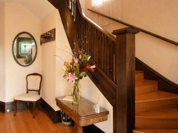 Original winding staircase to the top floor...