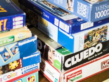 Plenty of board games to choose from for all ages