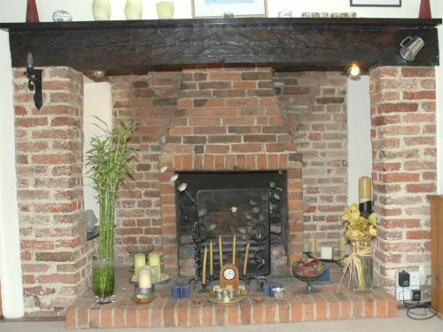 Fireplace in the Guest Lounge