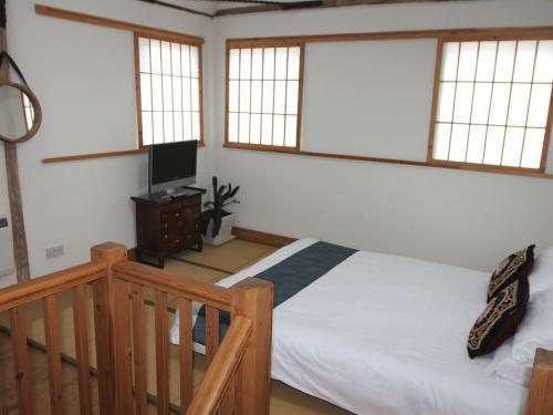 Katsura cottage bedroom with futons and tatami mats