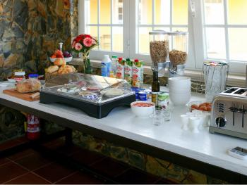 A breakfast buffet to get you a great start of the day