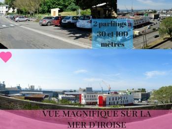 VUE PANORAMIQUE SUR LA MER D'IROISE , PARKINGS PUBLICS GRATUITS A 30 ET 100 METRES
