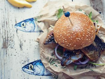 Mackerel burger