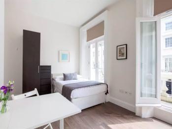 Studio Comfort + Balcony in Central London Victoria Pimlico Stations (shared bathroom)