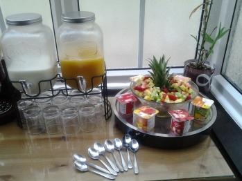 Buffet at breakfast