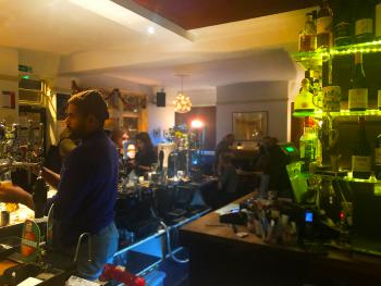 The lively bar closes at 11.00 pm