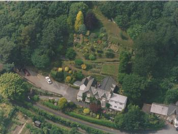 Arial view of Pine Lodge and Gardens