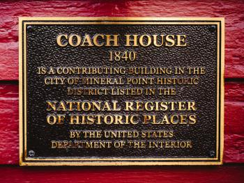 Coach House NHR sign