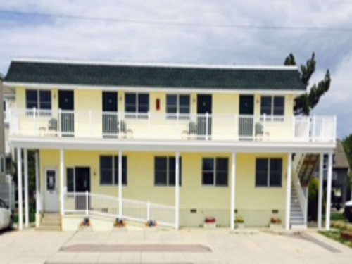 Front Of Motel Facing the Beach Front