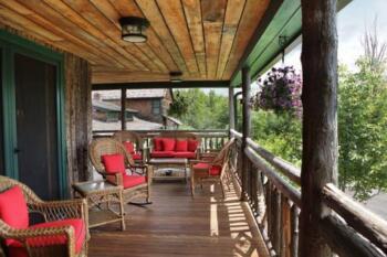 Main Lodge wrap-around porch