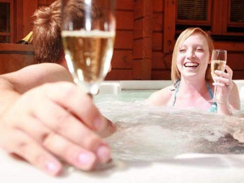 Luxury hot tub holidays.