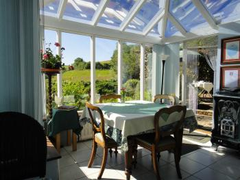 Breakfast in the conservatory or on the terrace