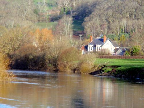 The Agent's House from the River Wye