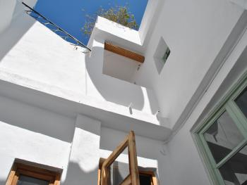 Stairs up to the roof terrace
