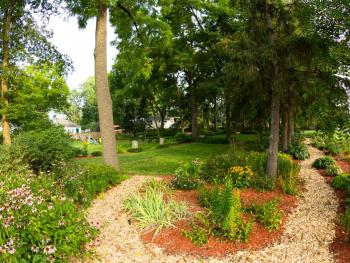 Paths through the various garden areas of the 3+ acre property.