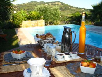 Le petit déjeuner l'été
