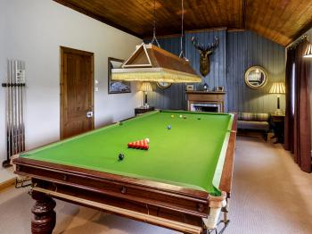 Billiard room in Alladale Lodge