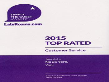 Awards - LateRooms.com 2015 - Customer Service