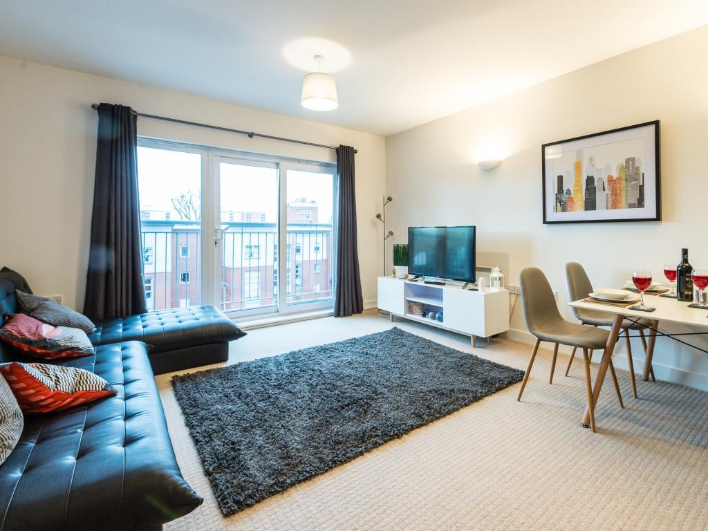 Open plan lounge, dining area, Free High speed WiFi, Smart TV, Netflix included, Sofa Bed