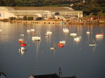 View of some of the boats at the North Devon Yacht Club