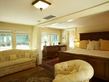 Unwind in The Todd Suite in the main part of the Inn, featuring King Bed, fireplace, and ensuite