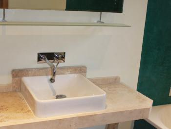 Stylish bathroom with bath, toilet and basin in 'The Holly' - Guest Room