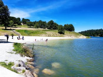 Beach at Lac de Cavayere, Carcassonne