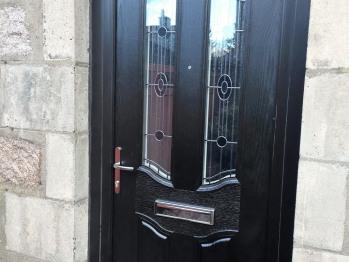 Front door from driveway.