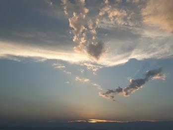 Un de nos beaux couchers de soleil