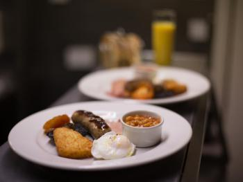 Enjoy an AA Gold Award breakfast