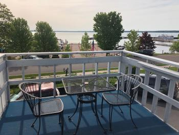 View from Room 3 Private Deck Facing East toward Madeline Island