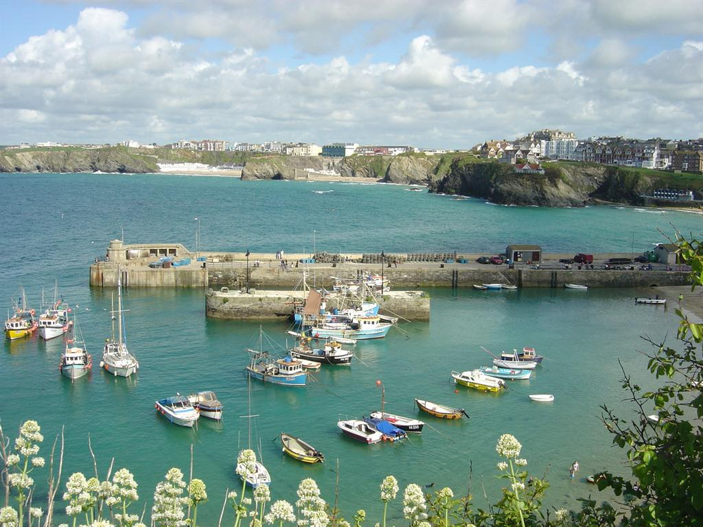 Newquay Harbour and The Bay